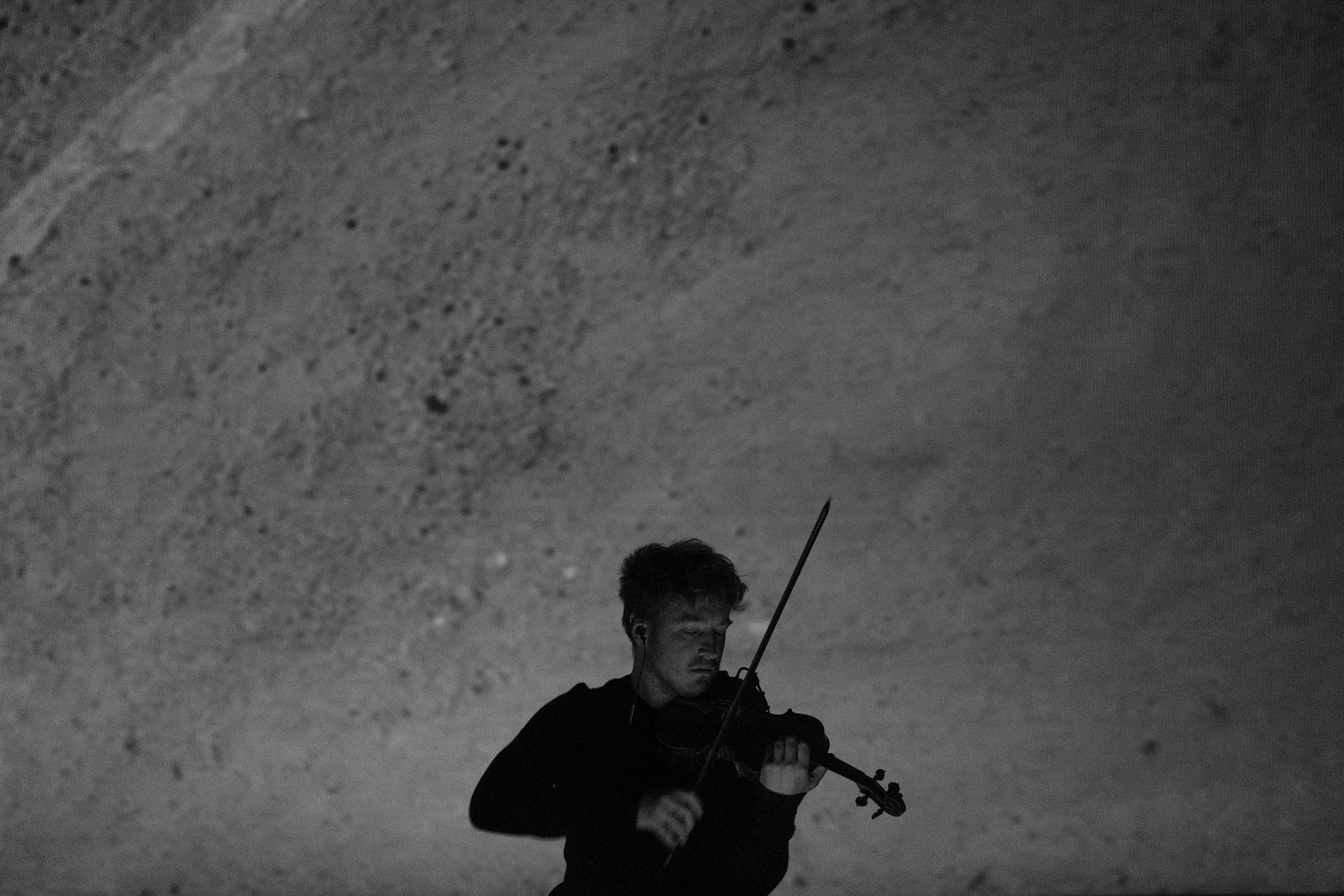 Daniel Pioro performing in Ventspils Concert Hall