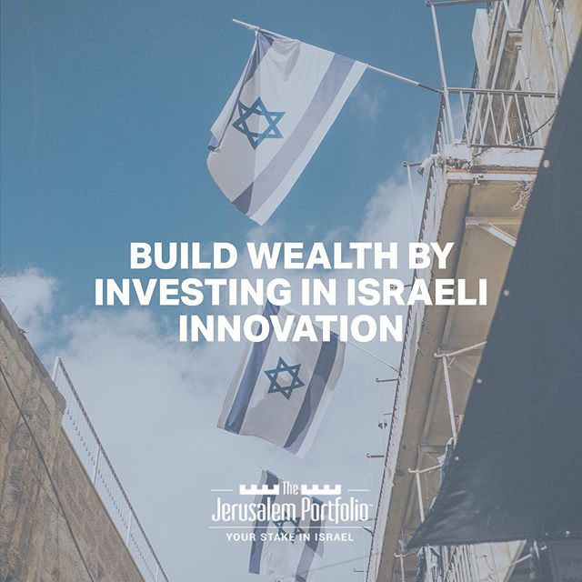 Israel = Innovation. Claim your stake in Israel's dynamic economy and start building wealth, link in bio. #thejerusalemportfolio