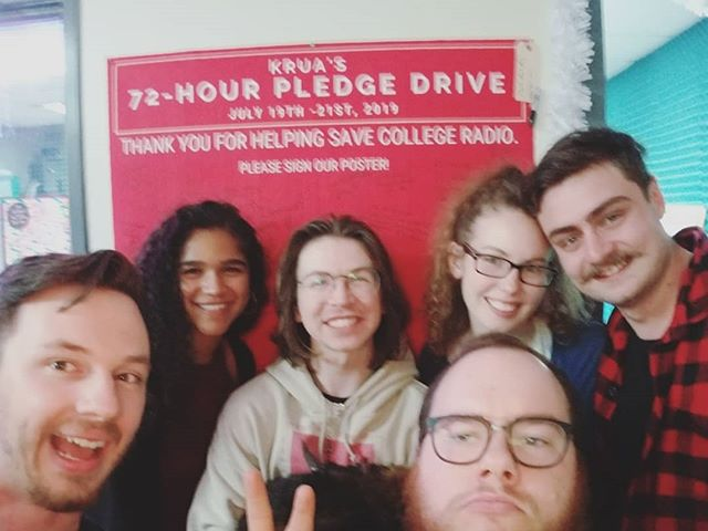 The gang closing out the 72-Hour Pledge Drive last night. 📻 A tremendous THANK YOU to all of our generous donors!!! With your support we can get the ball rolling to improve our broadcast signal in the Anchorage area. This event greatly surpassed our expectations and we're truly humbled to have an amazing community to step up and help us in our time of need. We love you all and will continue to broadcast and survive in these uncertain times for the university, thanks to your generous support. Our donation links will stay up for the time being as we work over the next few weeks to get the plan to transition our broadcast antenna in motion. Any amount you can donate will help! 🎧 Much love, KRUA. 🎛 🎤 #savekrua #savecollegeradio #uastrong