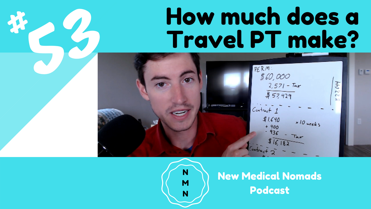 How much does a traveling physical therapist make?