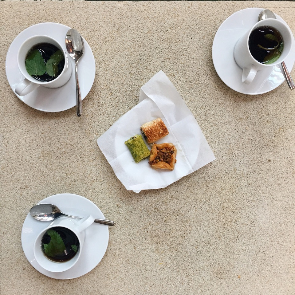 Pâtisserie at the French Pavilion | Mint tea & Sweets from Kuwait's pavilion