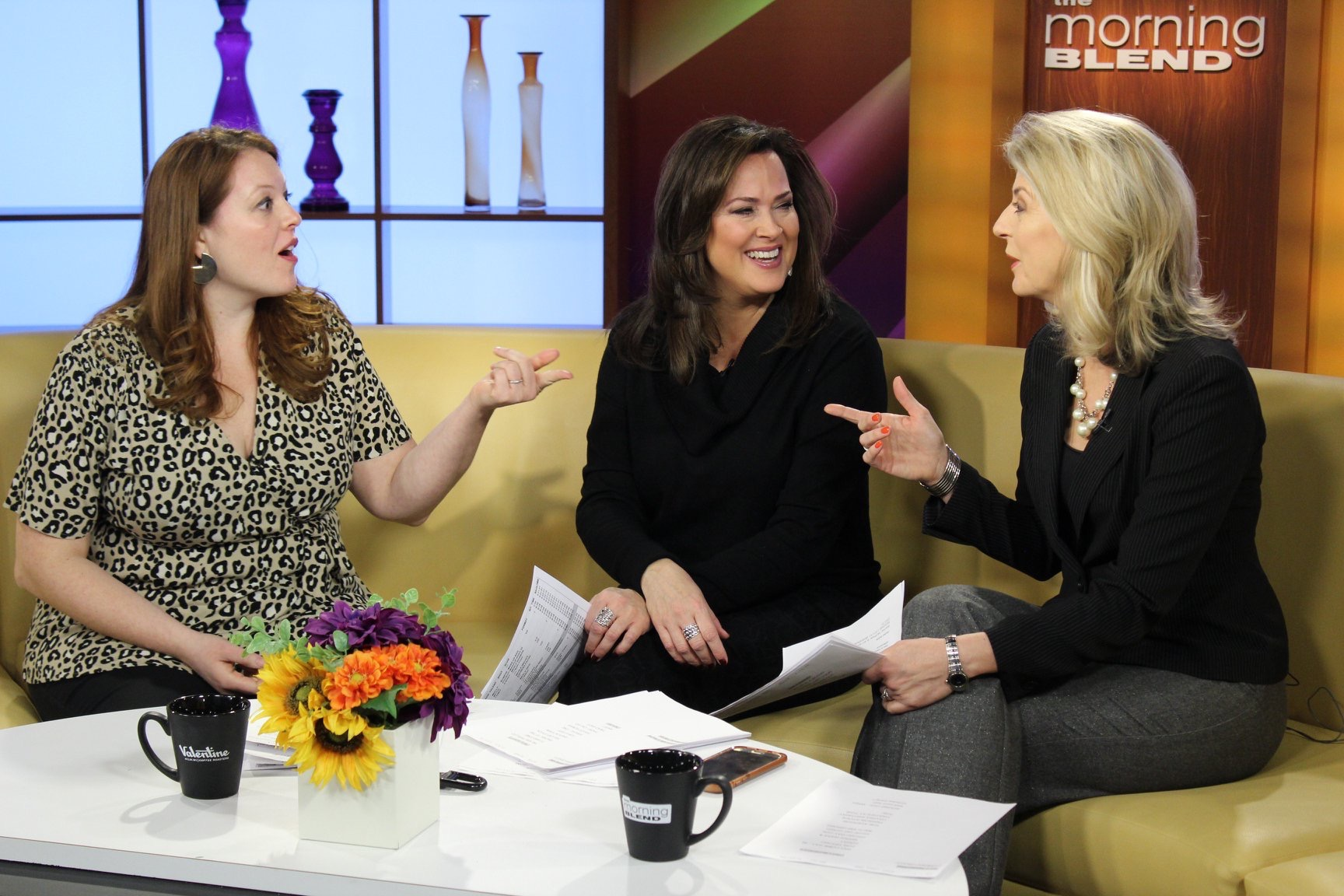 Rachel chatting with the gals on The Morning Blend