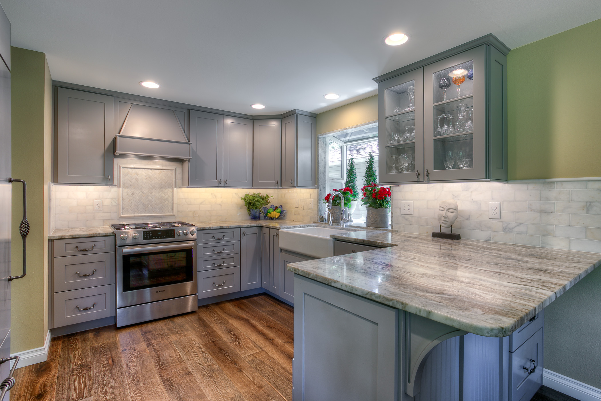 Opened Up Kitchen Features