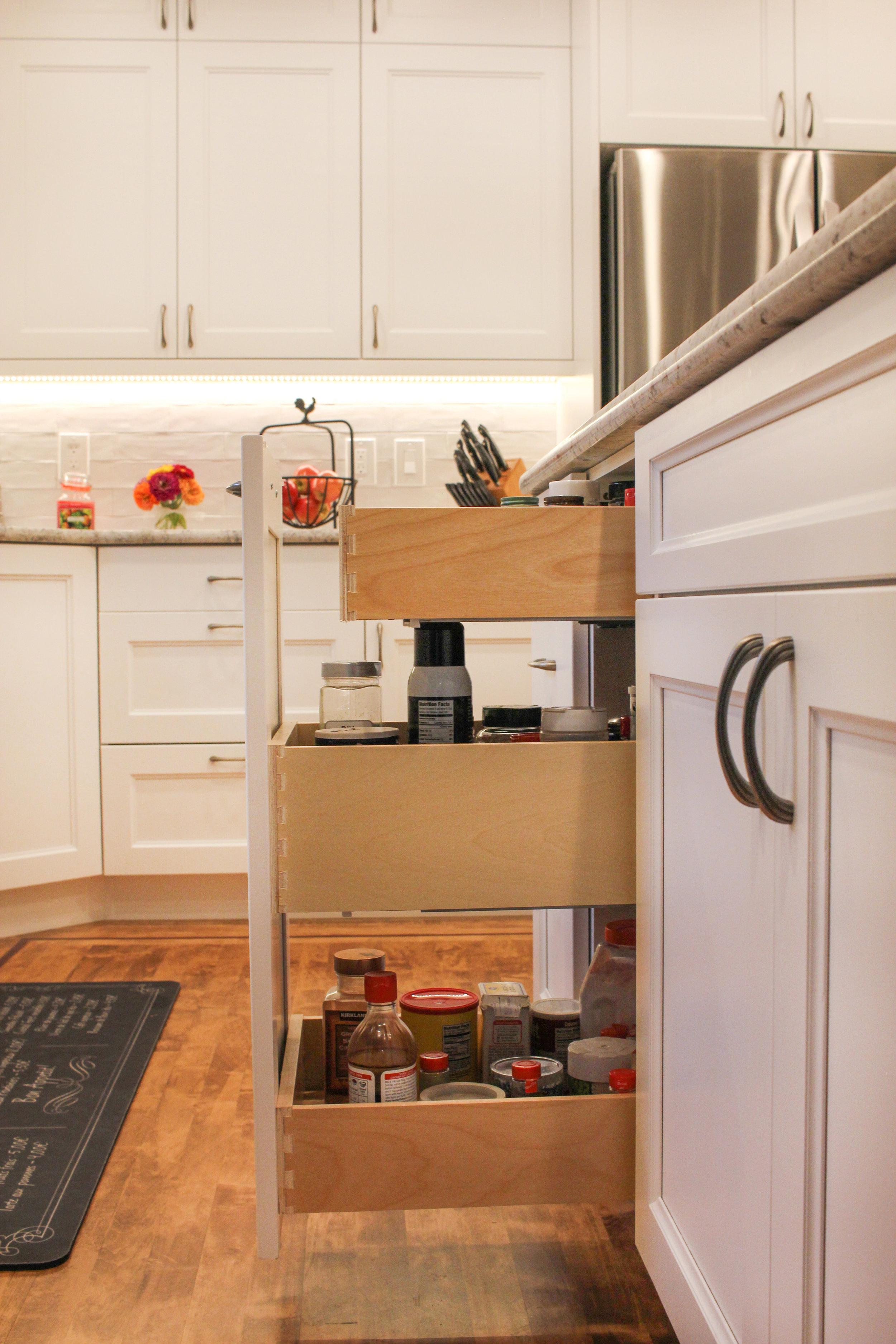 Custom Spice Rack Cabinetry