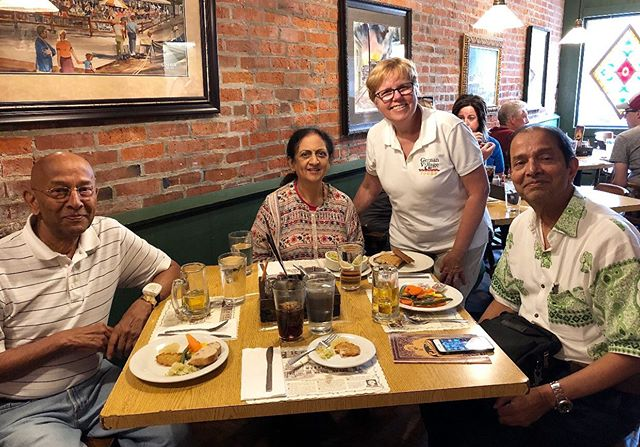 The rain didn't stop the Chandavarkar family from having a wonderful tour and meal in German Village! They visit us from Mumbai, India.