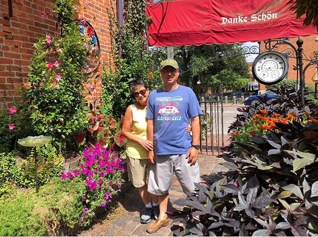 Richard and Roberta from Michigan your German Village on a beautiful Sunday afternoon!