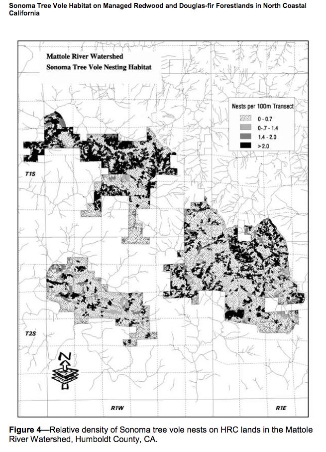 See Full Sonoma Tree Vole Habitat Report Here -