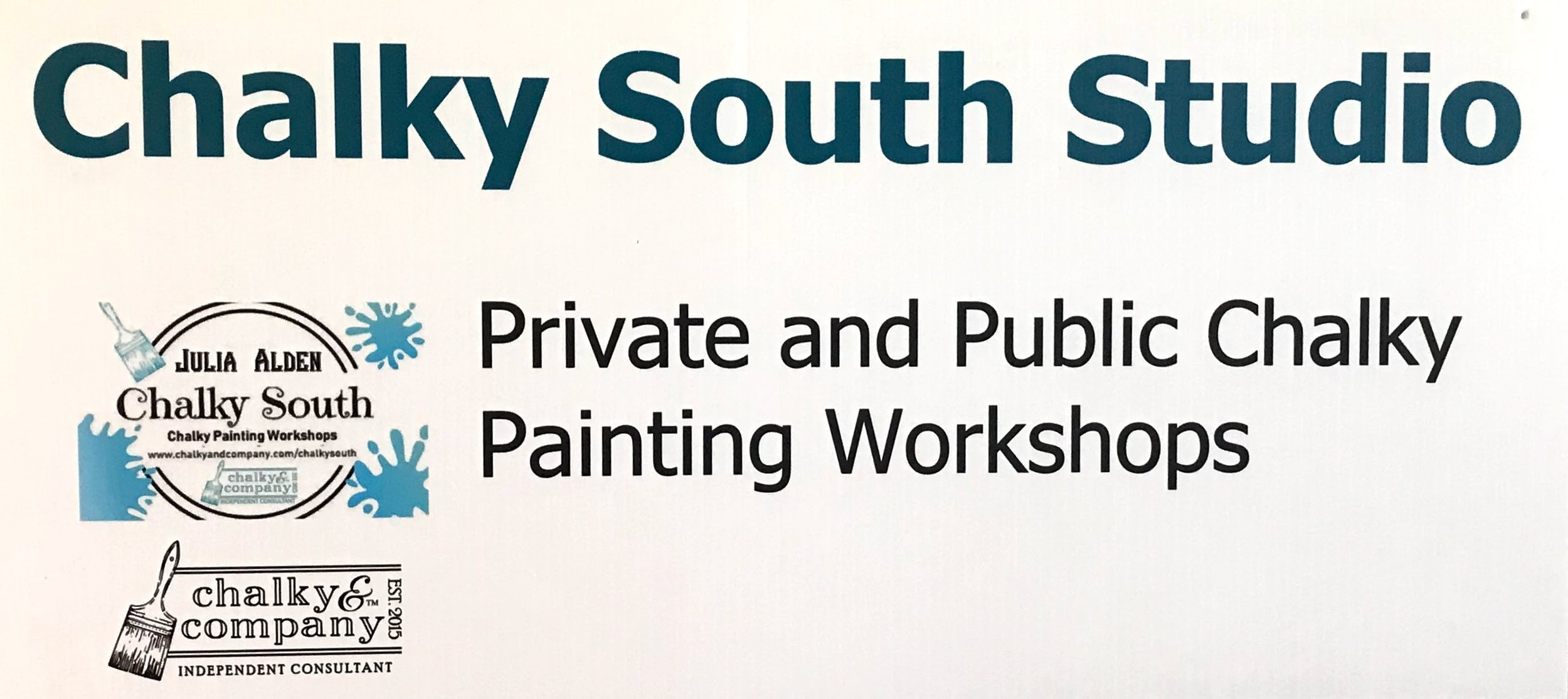 It's a great time Chalky Painting at the Chalky South Studio!