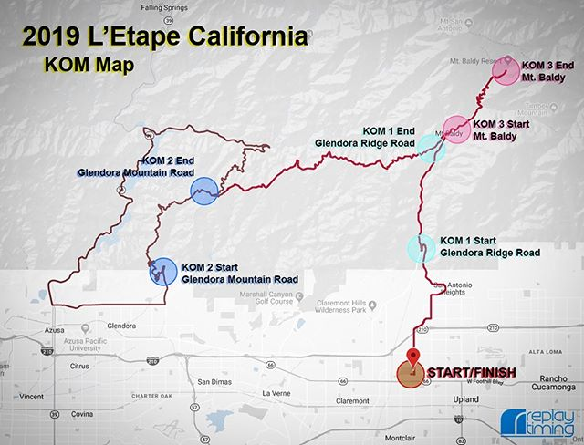 : We love all the events we do, but it's the complex ones that really get us excited. The 2019 @letapecalifornia has two routes (90 miles and 55 miles) and three KOM segments (in remote spots with no data connection). This weekend will be a blast. See you out there on Sunday!