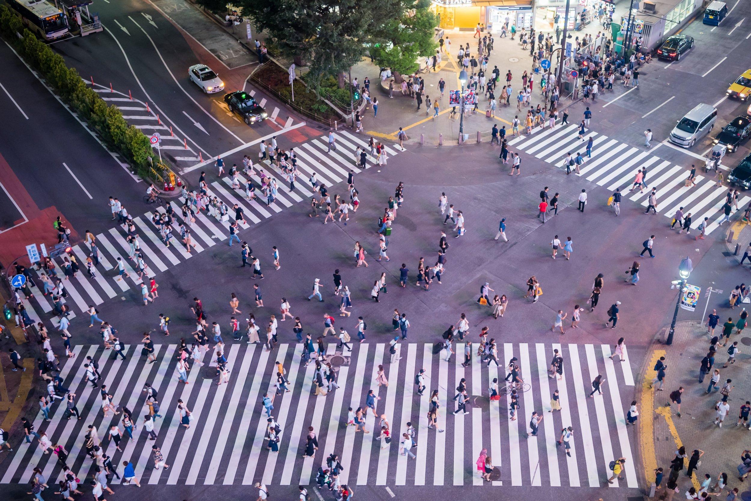 Shibuya Crossing - Photo by  Luca Florio