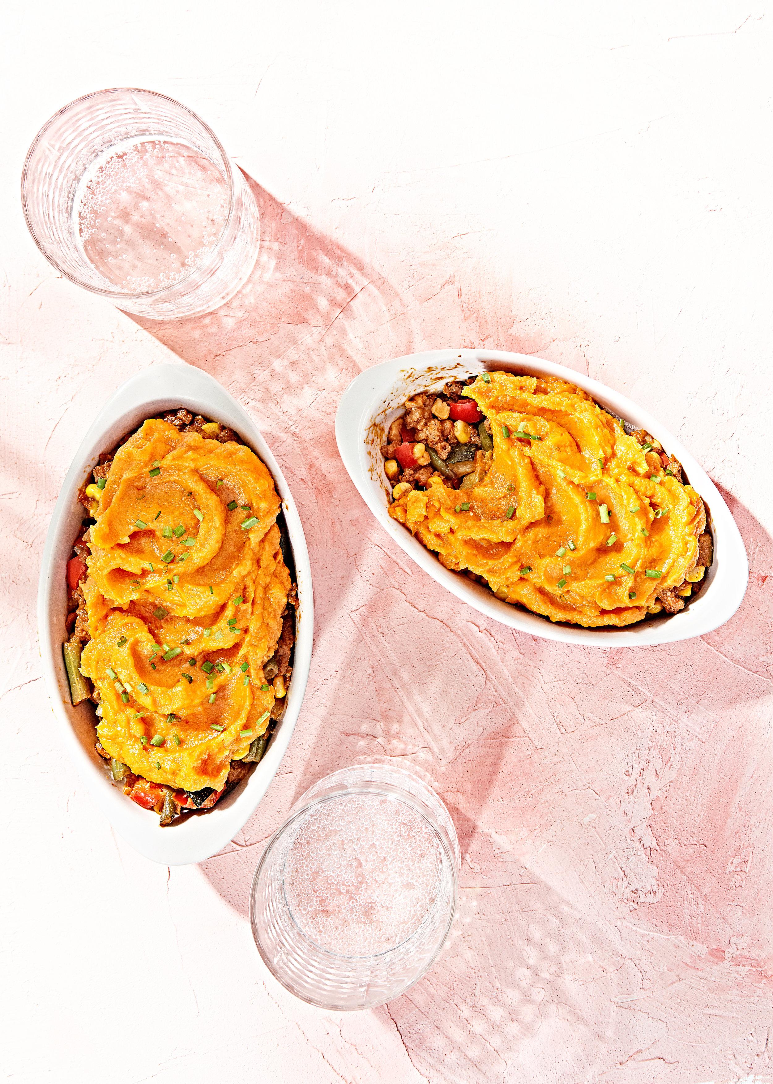 Sweet potato topped shepards pie