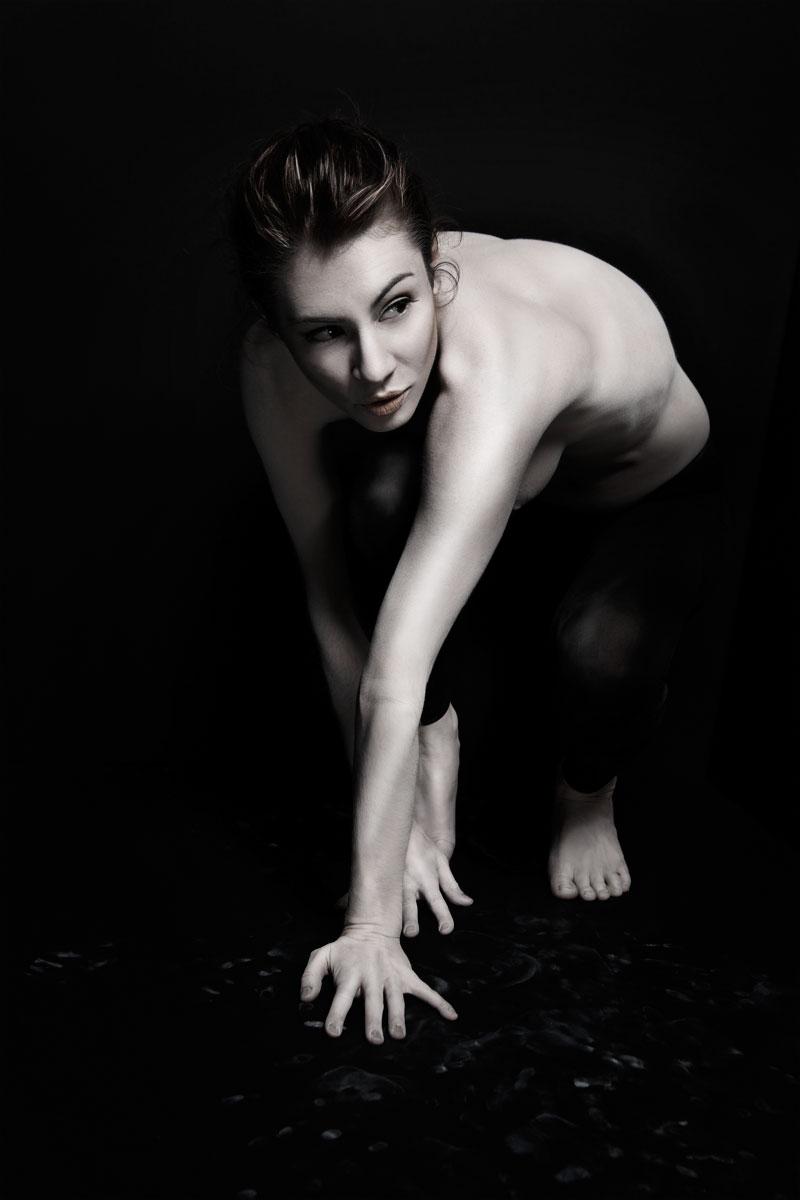 Avant garde young woman art