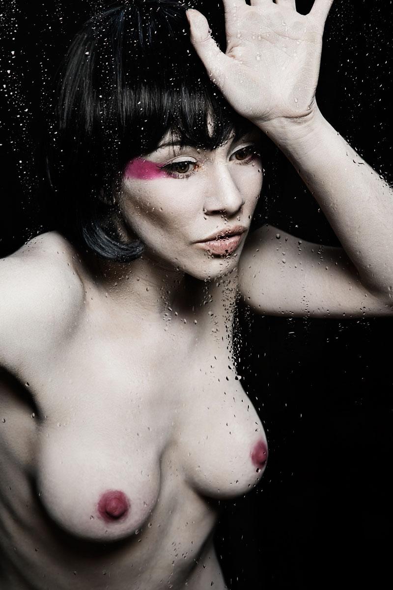Avant garde young woman nude art