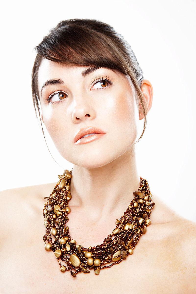 Beauty portrait with glowing skin