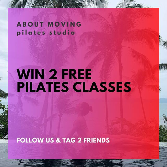 Win a free pilates class at @aboutmovingpilates in the centre of Amsterdam on the Keizersgracht. . Just Follow Us & Tag 2 of your friends that you'd love to workout with! . We'll give 3 lucky people 2 mat lessons during October! . Check your insta messages on Oct 13th as we will draw the winners! . Check out our website for more info about the studio and classes! See you soon ;)