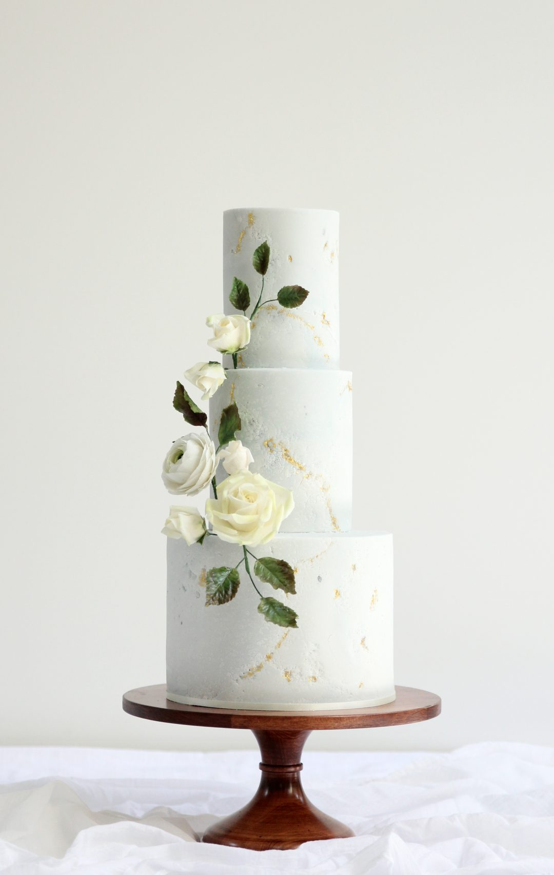 TEXTURE - Textured cakes are set to be huge this year. Top of the trend is that of stone-textured fondant cakes, with subtle marbling adding additional colour and textural interest.