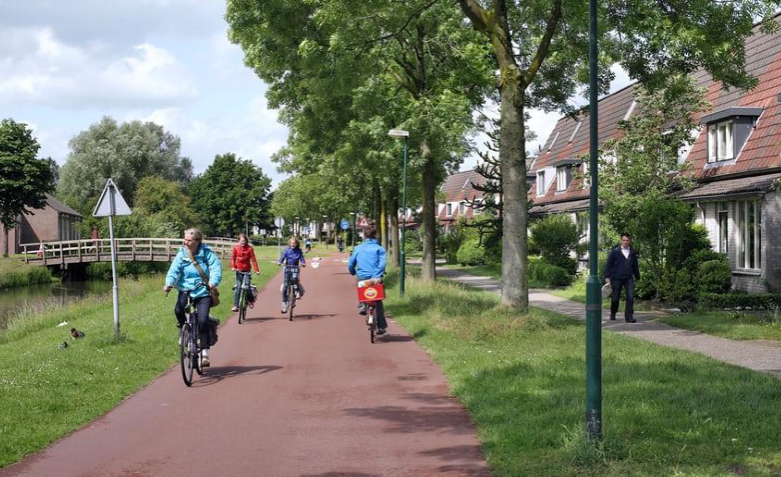 """The cyclist is key, the car is a guest,"" says project consultant Gerrit Dorgelo. ""Most roads are designed for cars, and also make cyclists use the road. In Bessemoerstraat, the cyclists ride in the middle of the road. It is therefore difficult for the driver to overtake cyclists, and they get the idea: I have to adapt myself and I am a guest."""