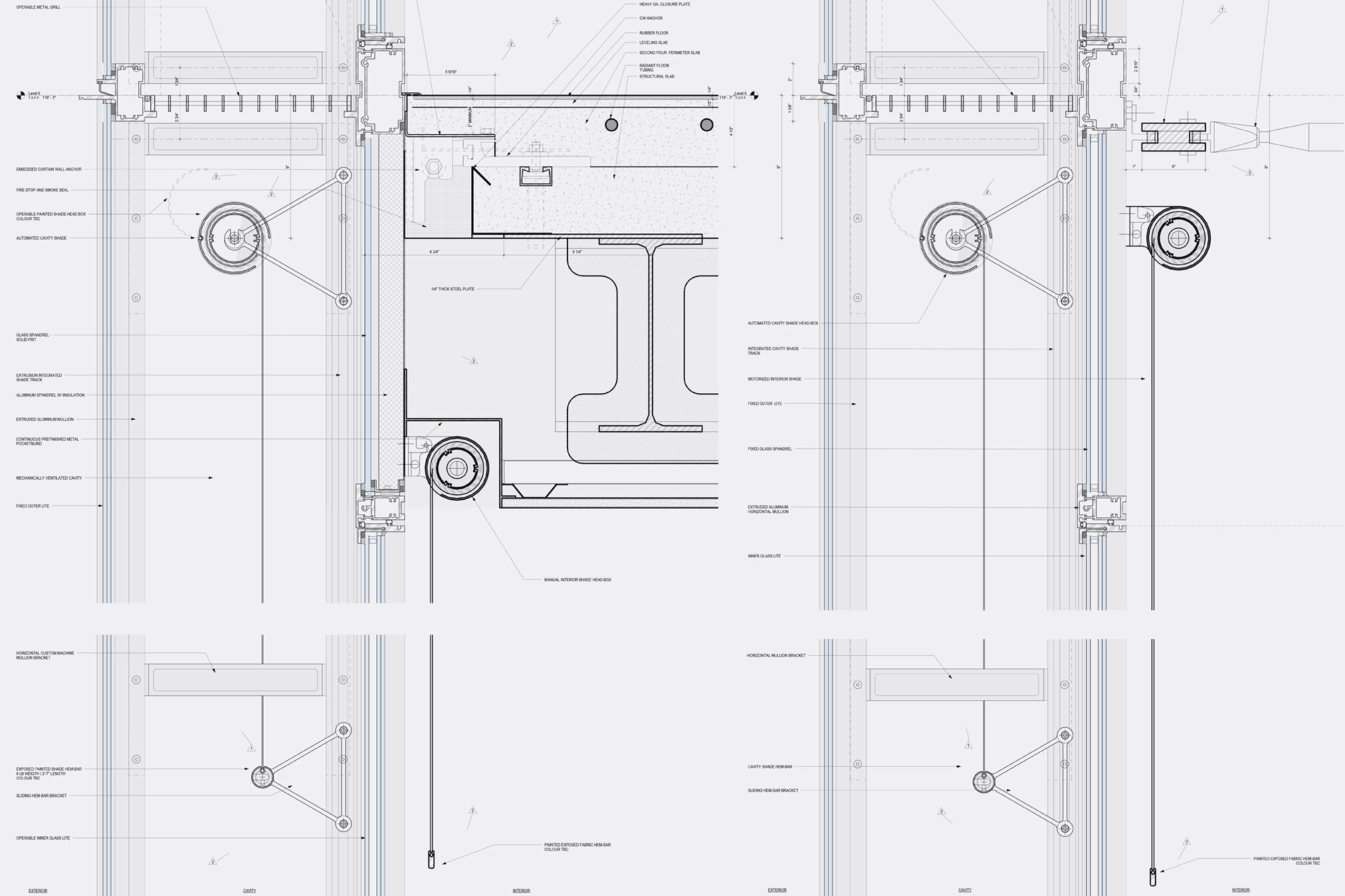 Curtain wall details (type 3)