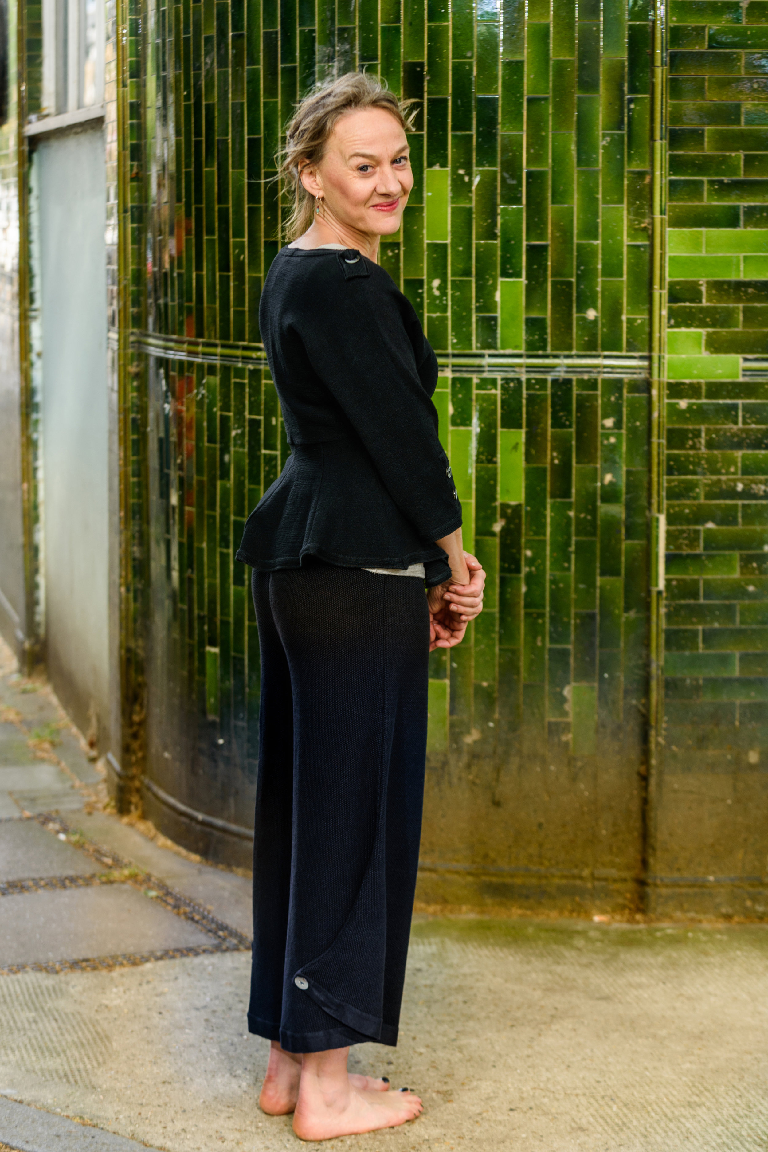 Niamh Cusack, Actress - Niamh immediately fell in love with Sophie's exceptional pieces, calling them 'beautiful clothes that make me feel beautiful'. Wearing an ensemble at a recent opening night, she noted 'I felt a million dollars, and on top of that I was able to cycle home… so easy, so comfortable'.