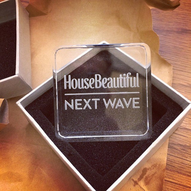 "My House Beautiful ""Next Wave"" award"