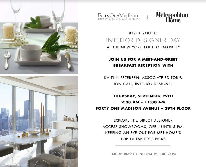 Creating a tablescape at Forty-One Madison for the relaunch of Metropolitan Home Magazine