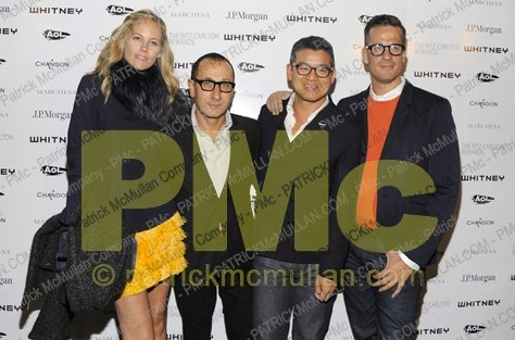 With my best friend, Kylie Case, Giles Mendel and Peter Som at the Whitney Art Ball