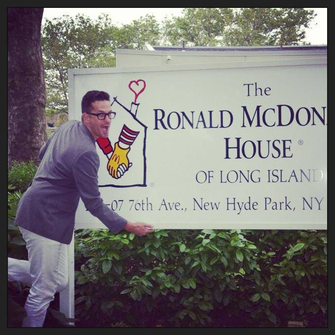 Celebrating on of my charities, The Ronald McDonald House