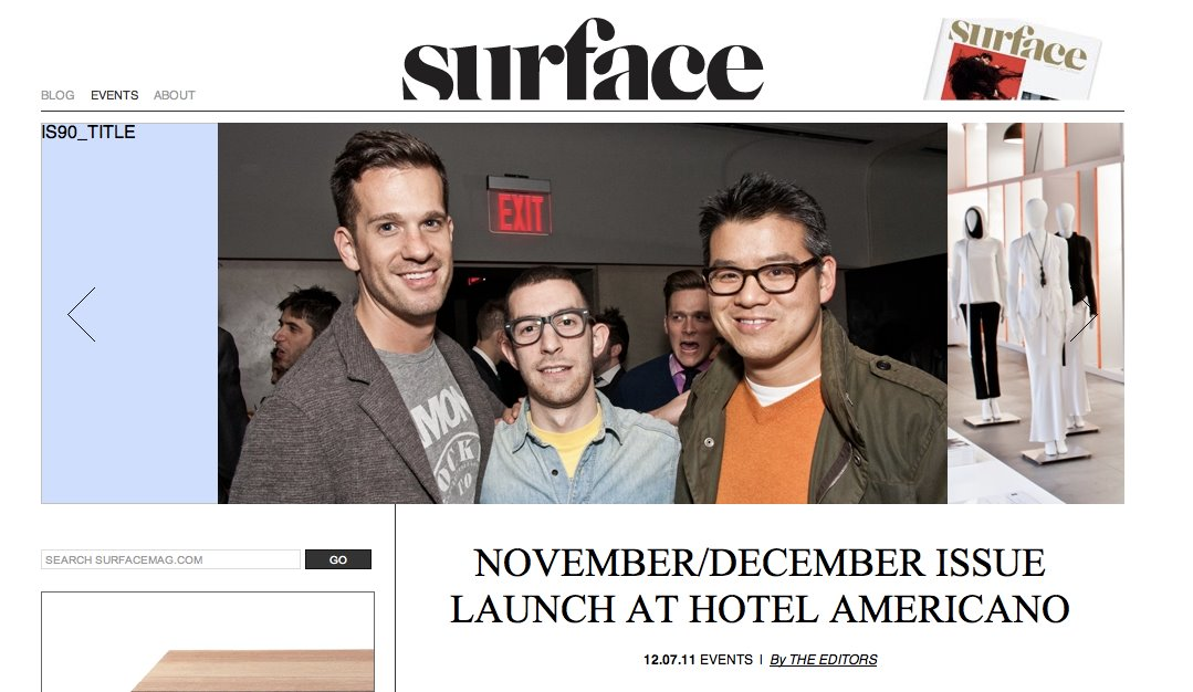 Surface Magazine launch party