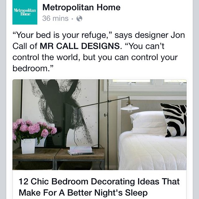 Metropolitan Home quoting me in their feed