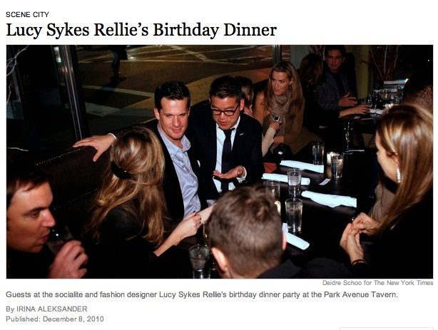 Captured by the New York Times at Lucy Sykes birthday party