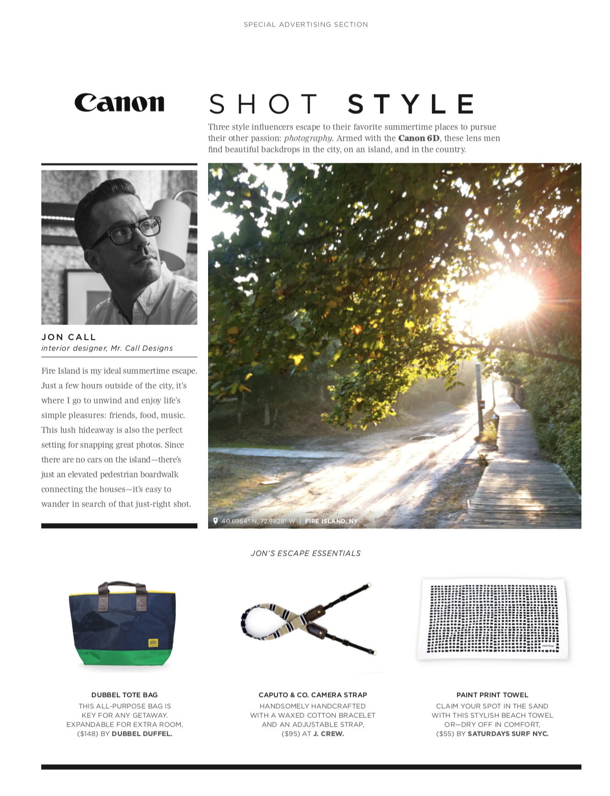 Cannon Summer Design Campaign