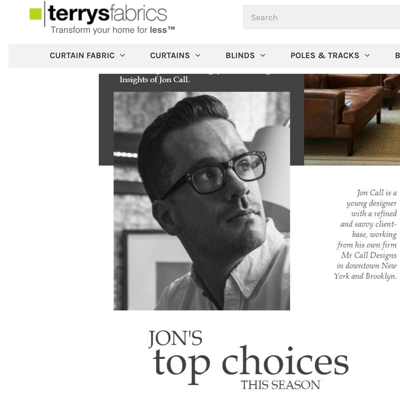 Sweet blog for Terry's Blinds