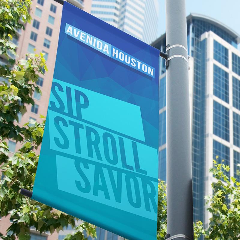Avenida Houston Pole Banner