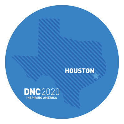 DNC 2020 Houston Texas Sticker