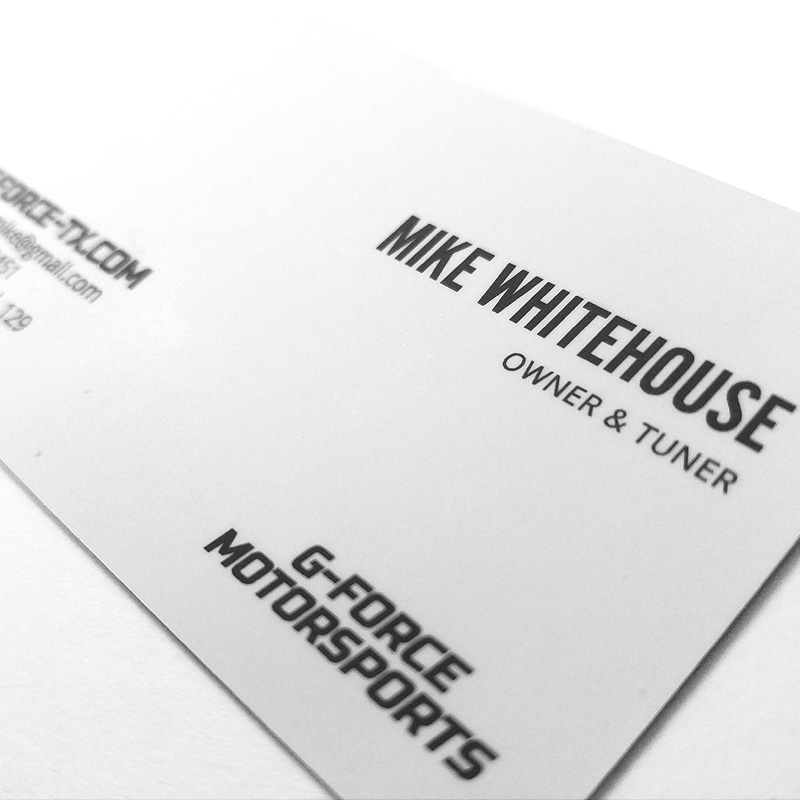 G-Force Motorsports Business Card