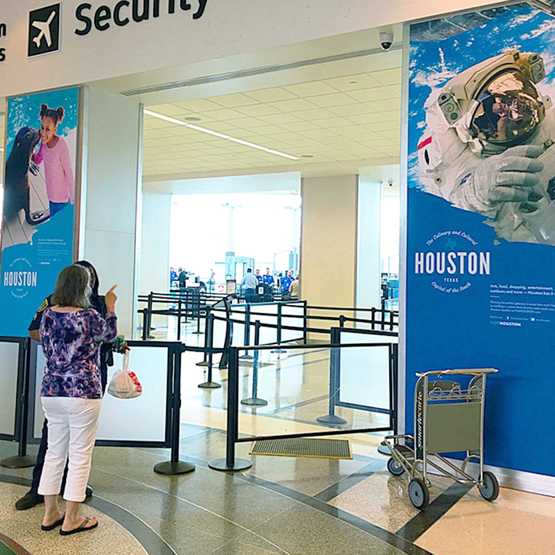 Houston Airports Security Signage