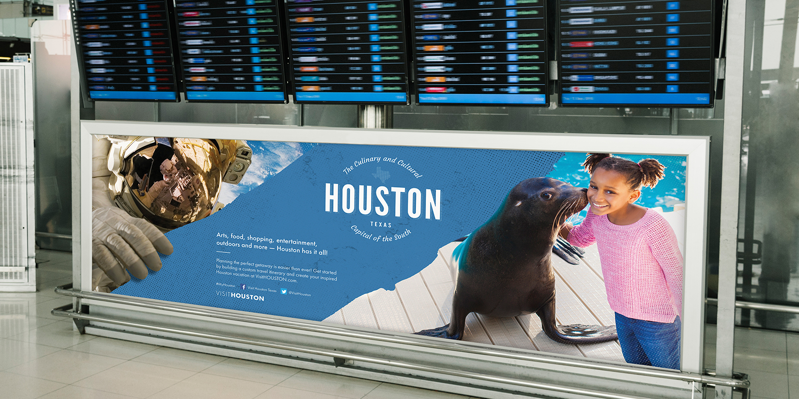 Houston Airports Departure Board