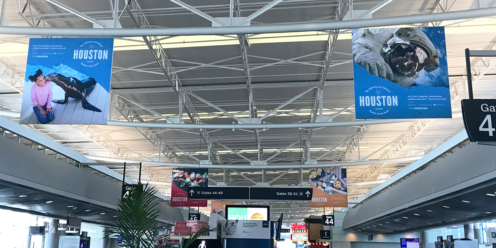 Houston Airports Hanging Banners