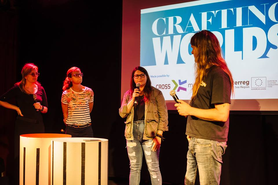 Speaker at the Crafting Worlds panel