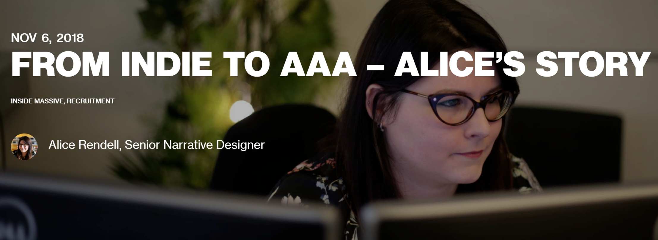 Blog post about my experience in moving from indie to AAA