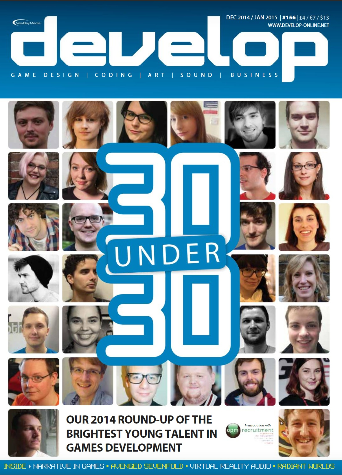 Named one of Develop Online's 30under30, 2015