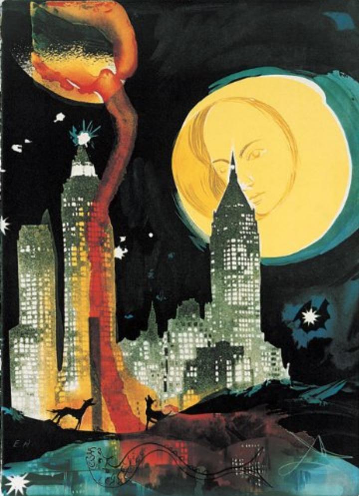 Salvador Dali,  Manhattan Skyline , 1976