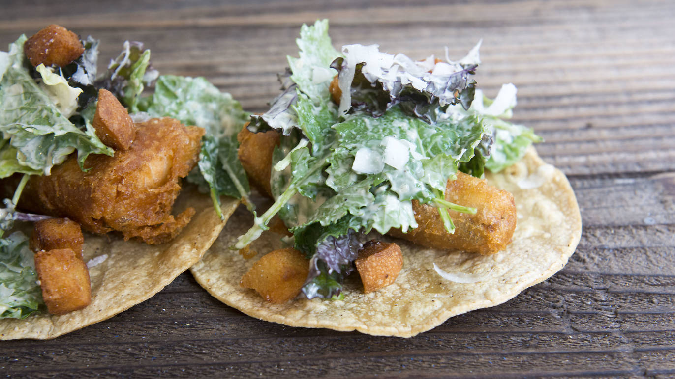 Chicas Tacos, a pastel-splattered eatery serving tacos for the modern Angeleno - TimeOut LA