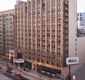 The former United Artists Theatre and office tower now enjoy new life as an Ace Hotel with a beautifully rehabbed theatre - Los Angeles Conservancy