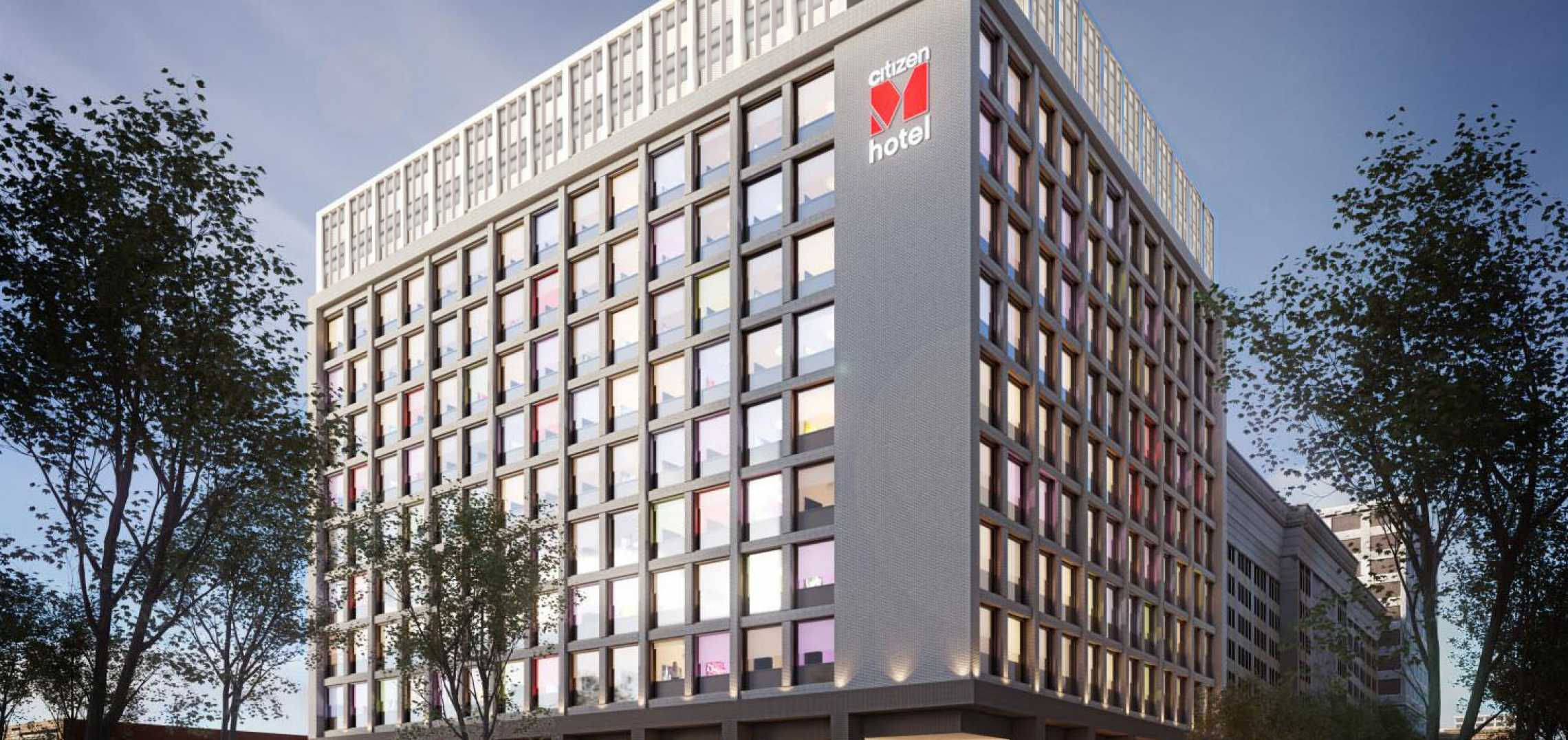 11-Story citizenM Hotel Breaks Ground in Downtown Los Angeles - URBANIZE Los Angeles
