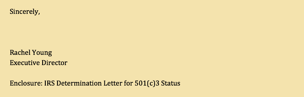 Write a Letter of Inquiry: LOI Sample Signature