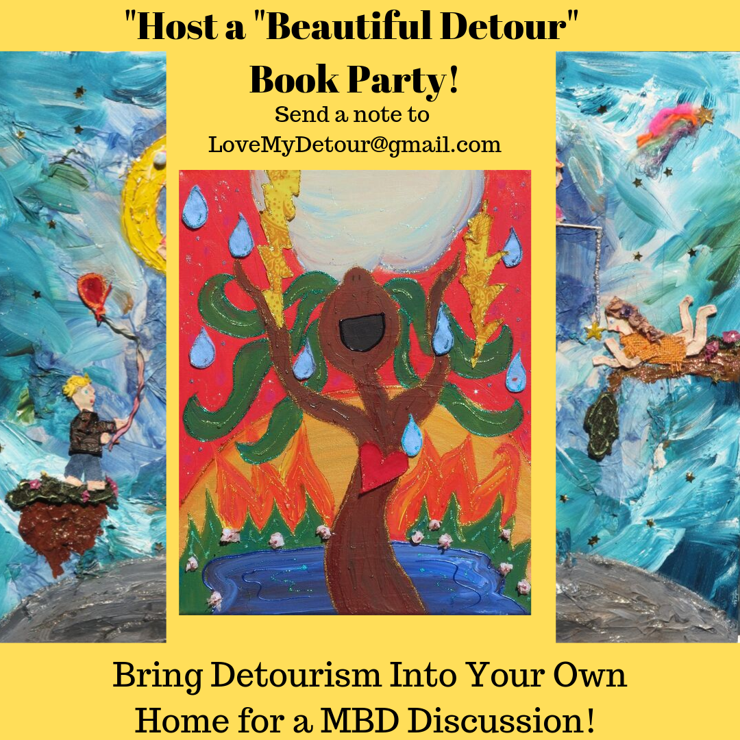"""Are you interested in hosting a My Beautiful Detour book party? Amy is coming into people's homes throughout the world in virtual book discussions, sharing the """"Detour Navigation"""" secrets and life-enhancing principles she illuminates in this remarkable book.  Contact her to discuss."""