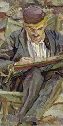 John Maynard Keynes - by Duncan Grant, 1917