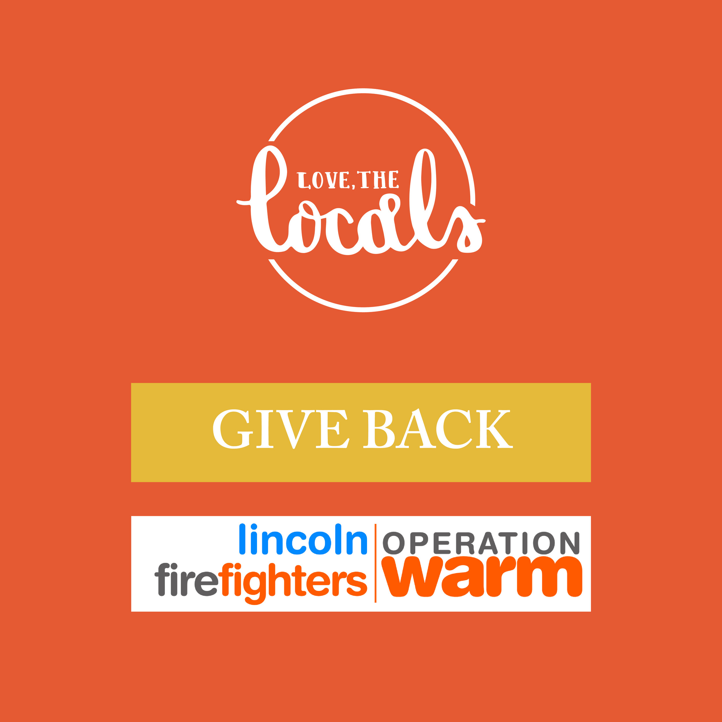 Love, The Locals Give Back Operation Warm