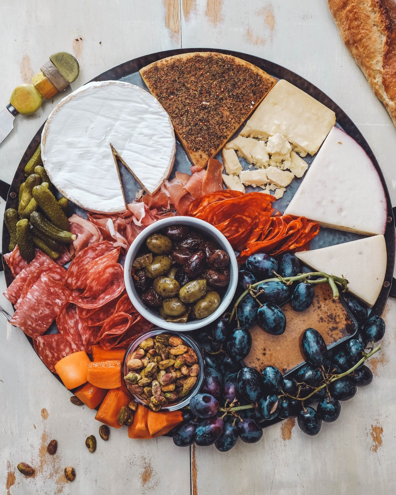 cured meats&assorted cheeses -